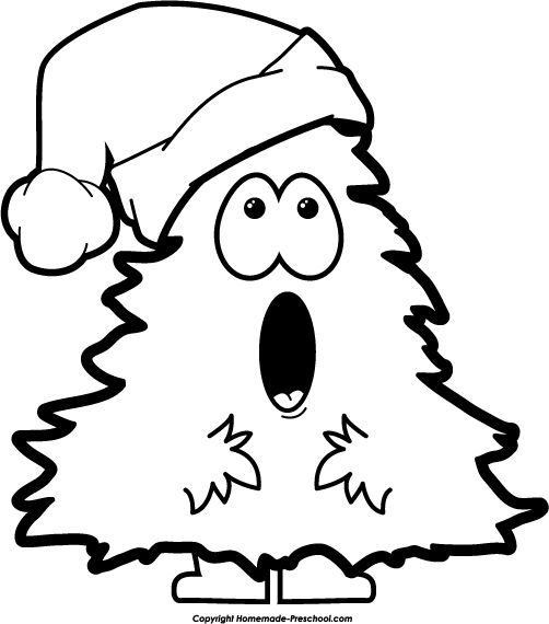 Christmas tree with smile black and white clipart image free download Merry Christmas Black And White Clipart | Free download best Merry ... image free download