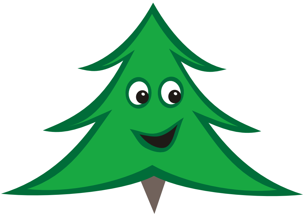 Christmas tree with smile black and white clipart clipart freeuse clipartist.net » Tree clipart freeuse