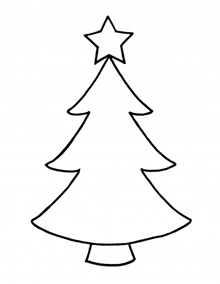 Christmas trees outline clipart free library Christmas Tree Star Outline image gallery | Christmas stuff ... free library
