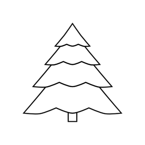 Christmas trees outline clipart vector Christmas Tree Outline Clip Art at Clker.com - vector clip art ... vector