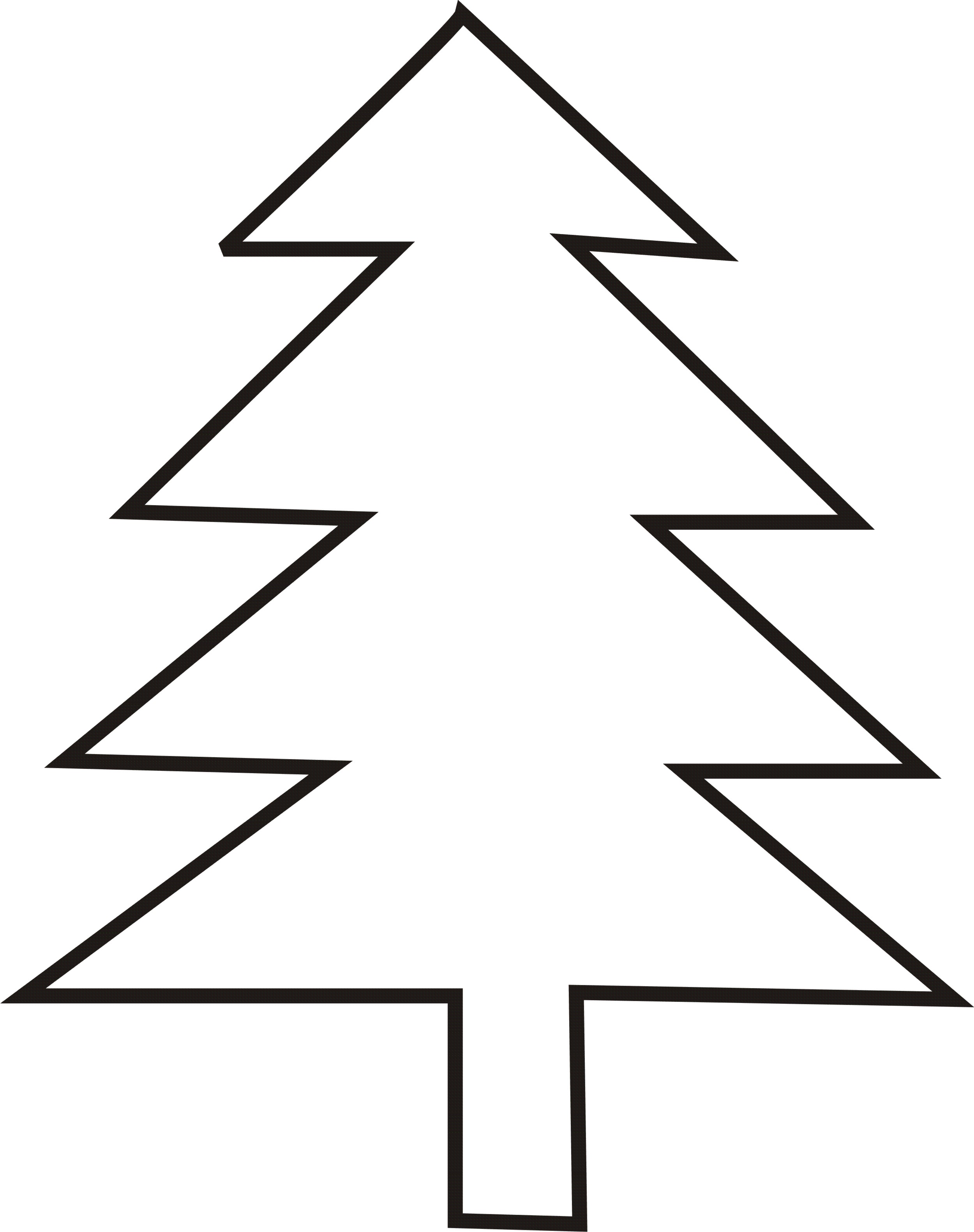 Christmas trees outline clipart image black and white download Free Christmas Tree Outlines, Download Free Clip Art, Free Clip Art ... image black and white download