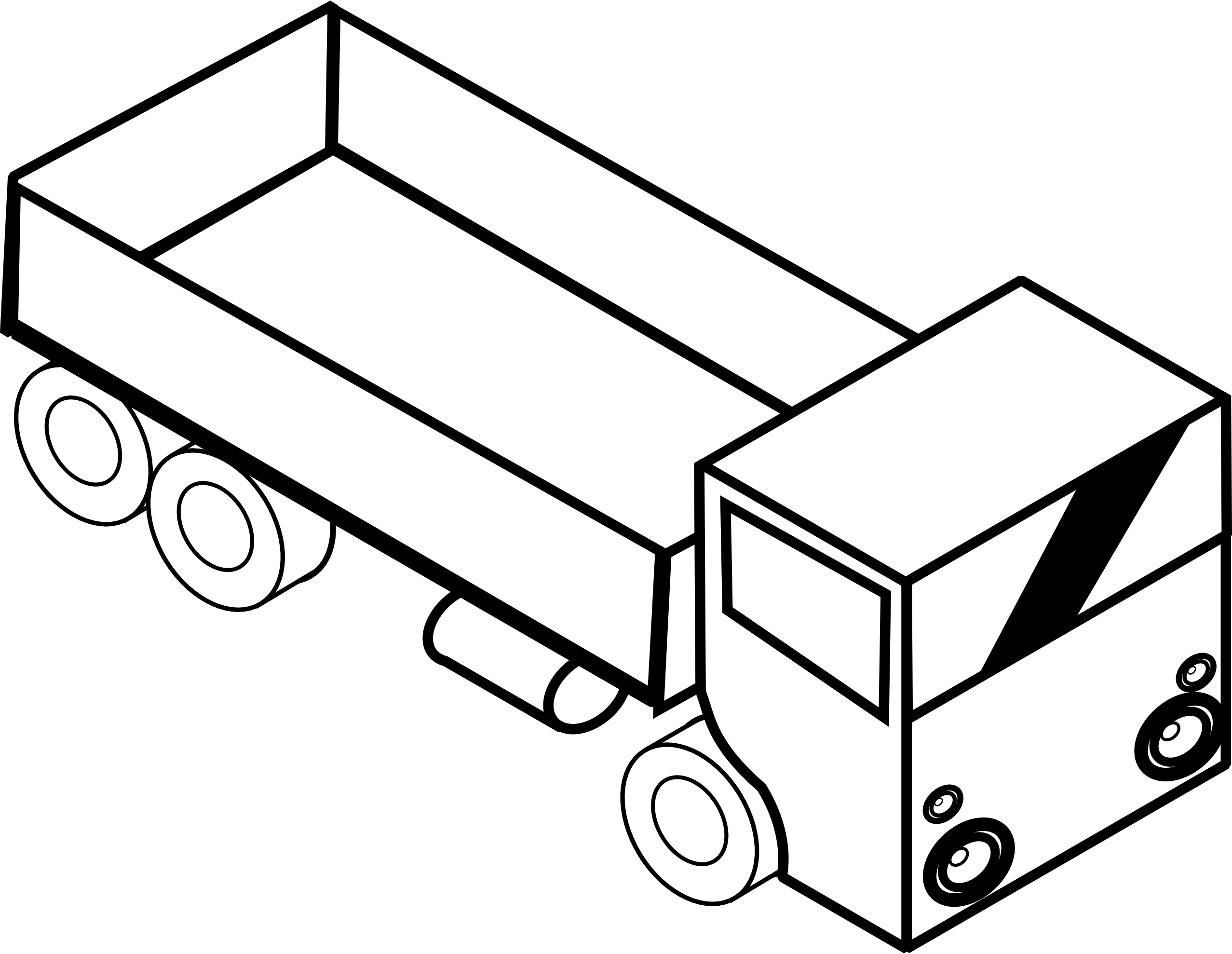 Christmas truck clipart banner free stock Truck Clipart Black And White   Clipart Panda - Free Clipart Images banner free stock