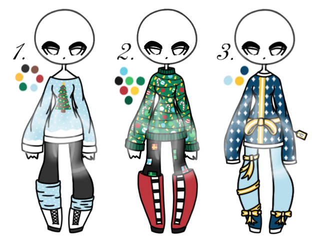 Christmas ugly sweater clipart picture Open - Adopt Batch 30 - Ugly Christmas Sweaters by Adopts-and ... picture
