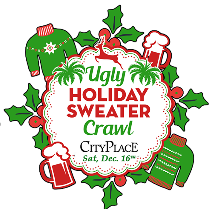 Ugly christmas sweater party clipart clip black and white stock Ugly Holiday Sweater Crawl | CityPlace clip black and white stock