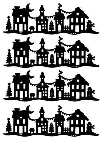 Christmas village clipart black and white graphic black and white christmas village house die   Christmas-House-street-scene-snow-xmas ... graphic black and white