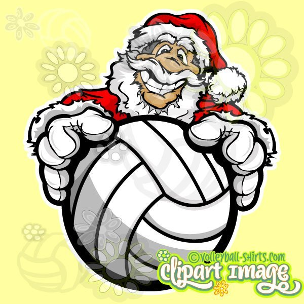 Christmas volleyball clipart banner black and white library Christmas Volleyball Clip Art Archives - Volleyball Shirts, Art and ... banner black and white library