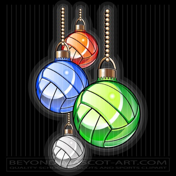 Christmas volleyball clipart banner freeuse download Holiday Volleyball Artwork - Christmas Ornament Clipart banner freeuse download