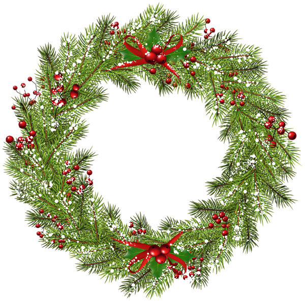 Christmas wreath clipart png vector royalty free library Christmas Wreath PNG Clip Art Image | круглые | Pinterest | Art ... vector royalty free library