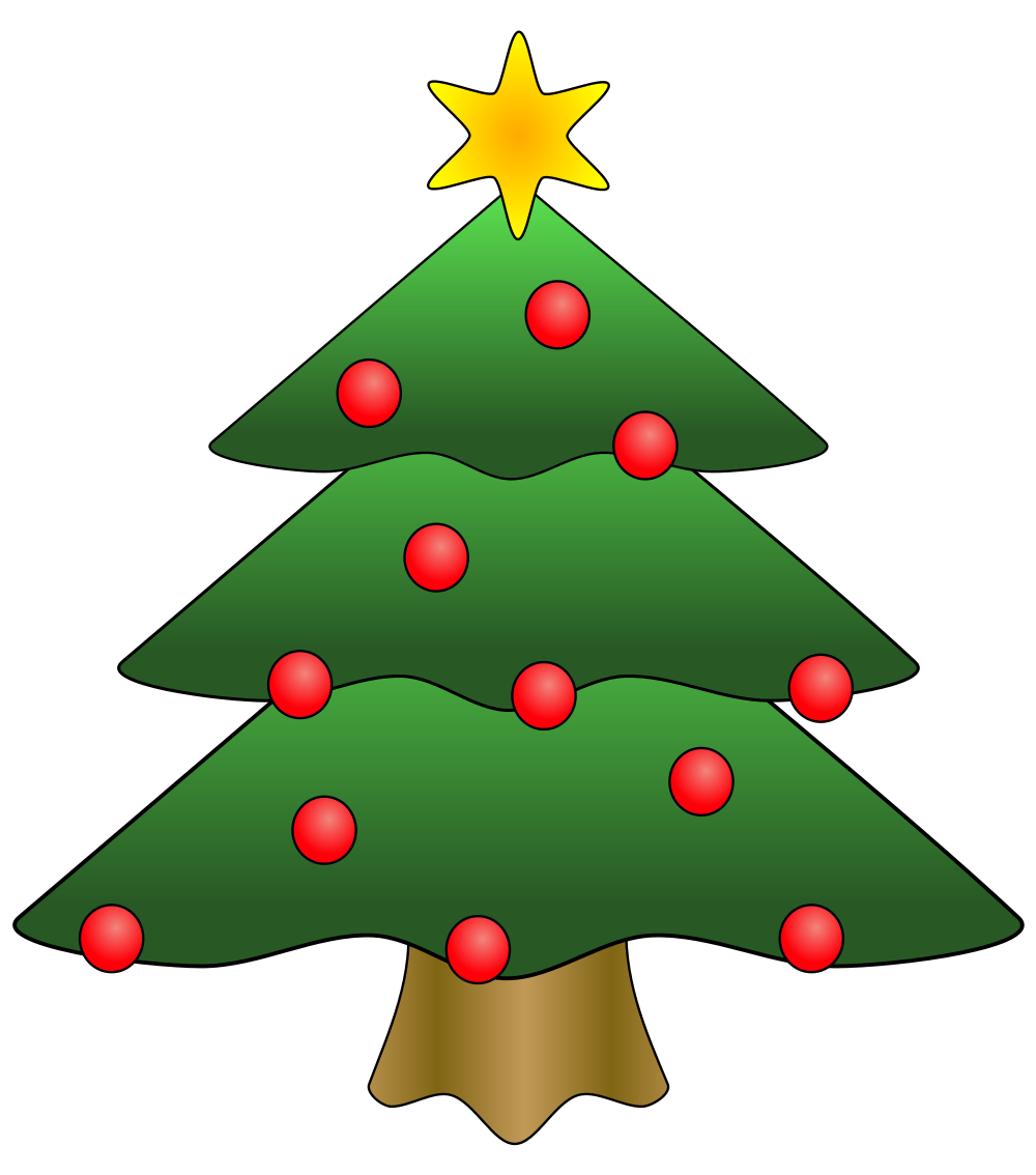 Christmas welcome clipart picture freeuse download File:Christmas tree 02.svg - Wikimedia Commons picture freeuse download
