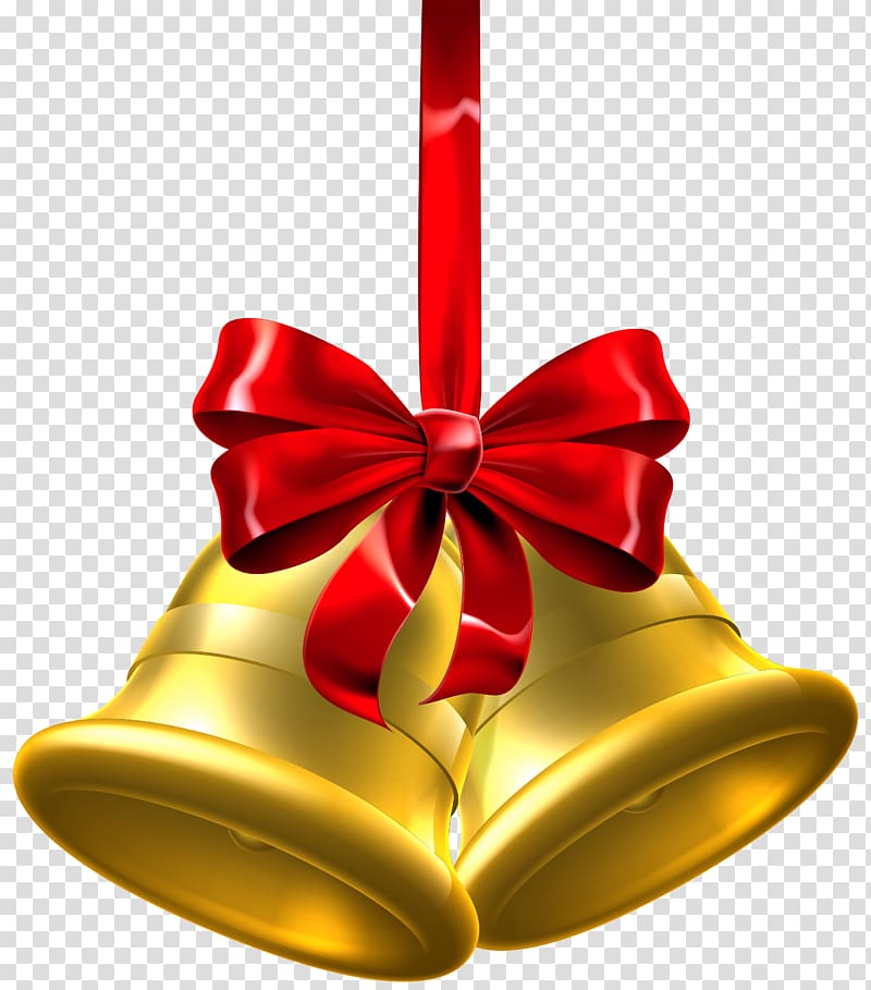 Bells wilth ribbons clipart picture transparent library Gold bells with red ribbon bow , Christmas Jingle bell , Gold ... picture transparent library