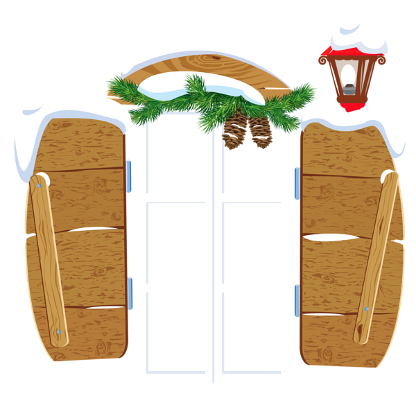Christmas window clipart clip library library Gallery - Christmas PNG clip library library