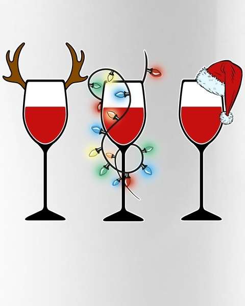 Christmas wine glass clipart clip free stock Christmas Wine Party Coffee Mug clip free stock