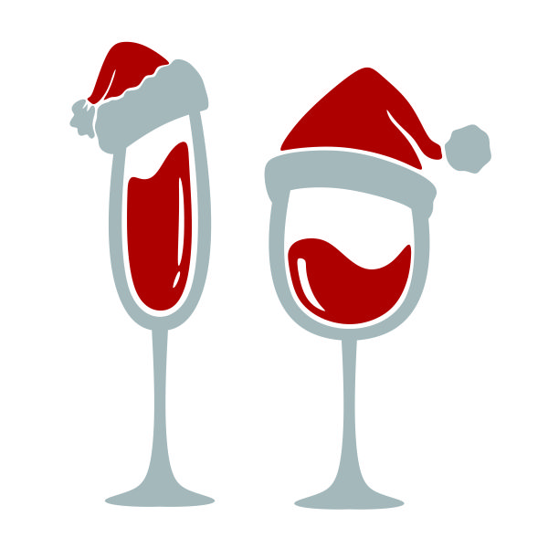 Christmas wine glass clipart royalty free download Christmas Wine Glass Santa Hat SVG Cuttable Designs royalty free download