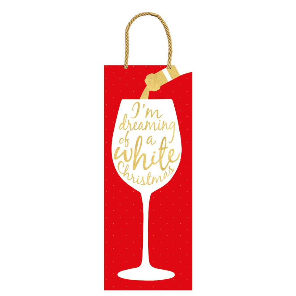 Christmas wine glass clipart vector library Wine Christmas Wine & Bottle Gift Bag - 1 Each vector library