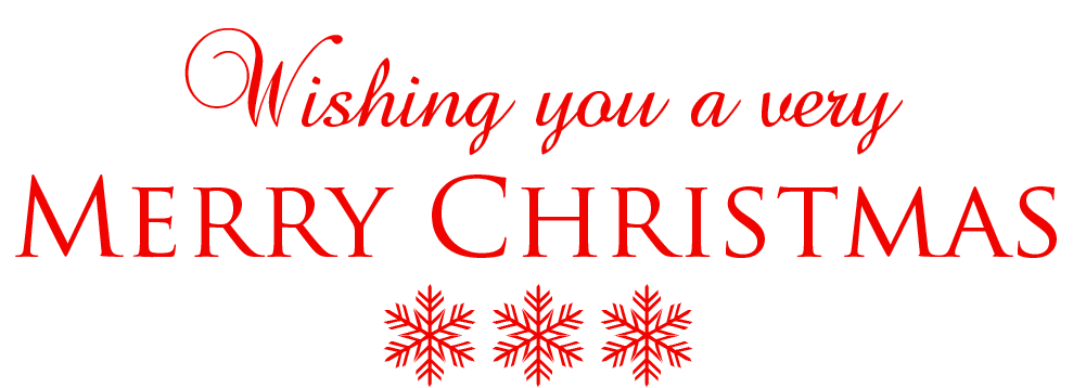 Christmas words clipart
