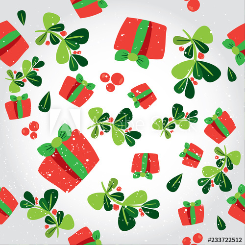 Christmas wrapping paper background clipart png download Seamless winter pattern with a red gift boxes. Flat vector Christmas ... png download