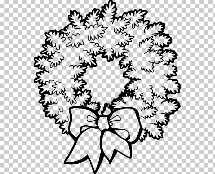 Christmas wreath black and white clipart vector transparent download Christmas Wreath Black And White PNG, Clipart, Art, Black And White ... vector transparent download