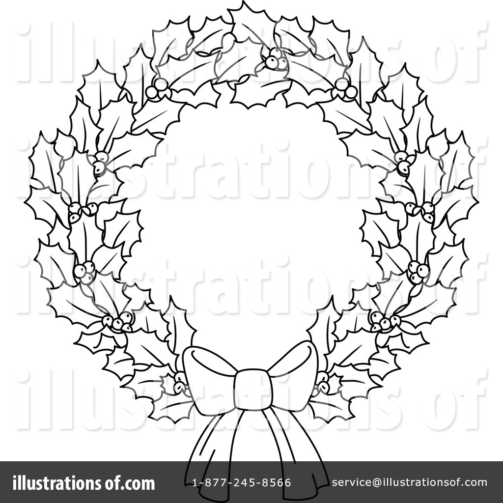 Christmas wreath black and white clipart free stock Christmas wreath clipart black and white 4 » Clipart Station free stock