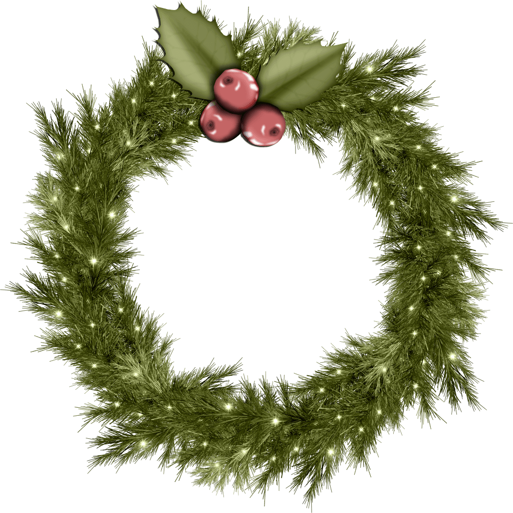 Christmas wreath clipart png clipart free library Cool Christmas Wreath Png Image clipart free library
