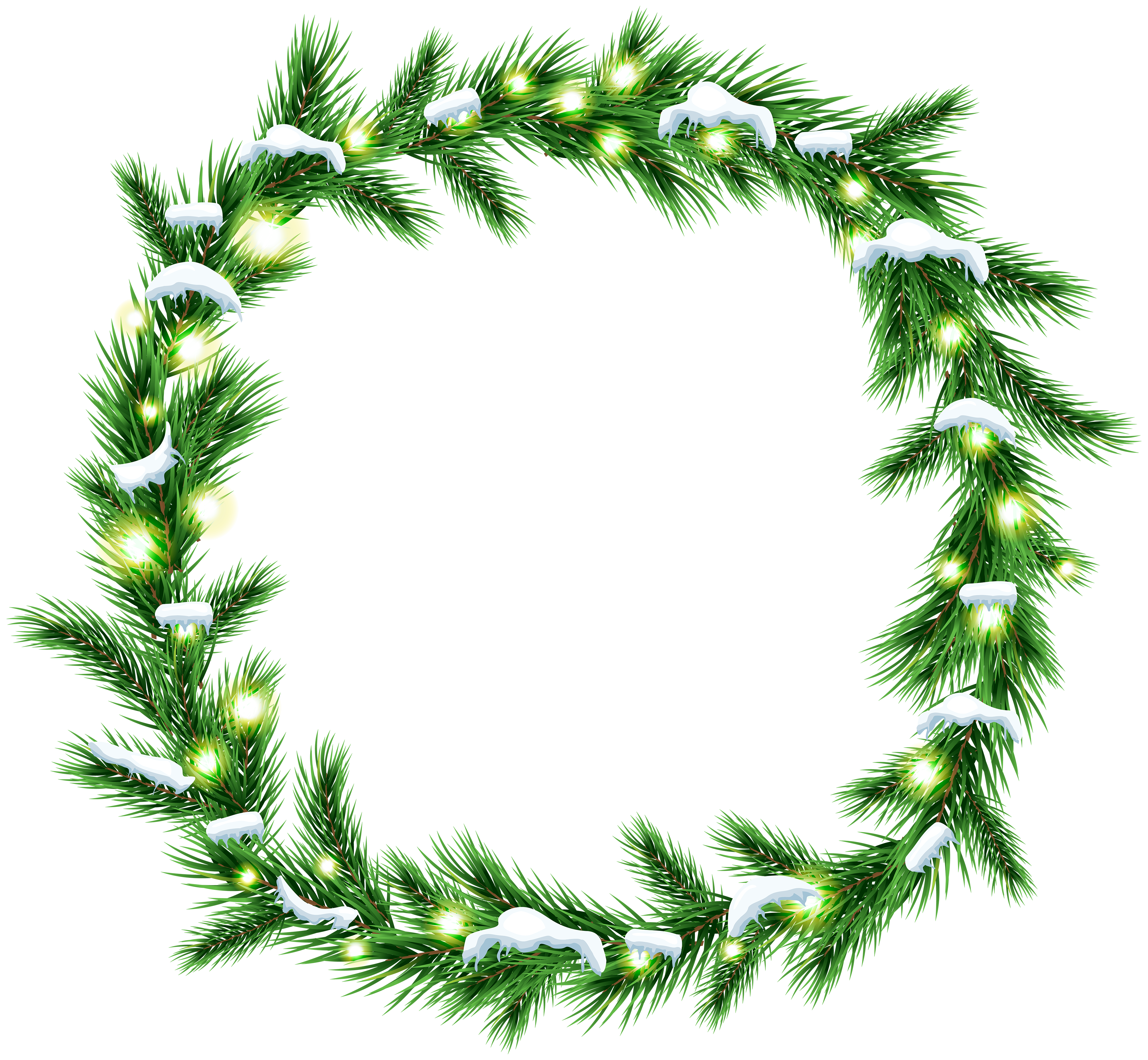 Christmas wreath clipart black and white graphic royalty free library Christmas Snowy Wreath PNG Clip Art | Gallery Yopriceville - High ... graphic royalty free library