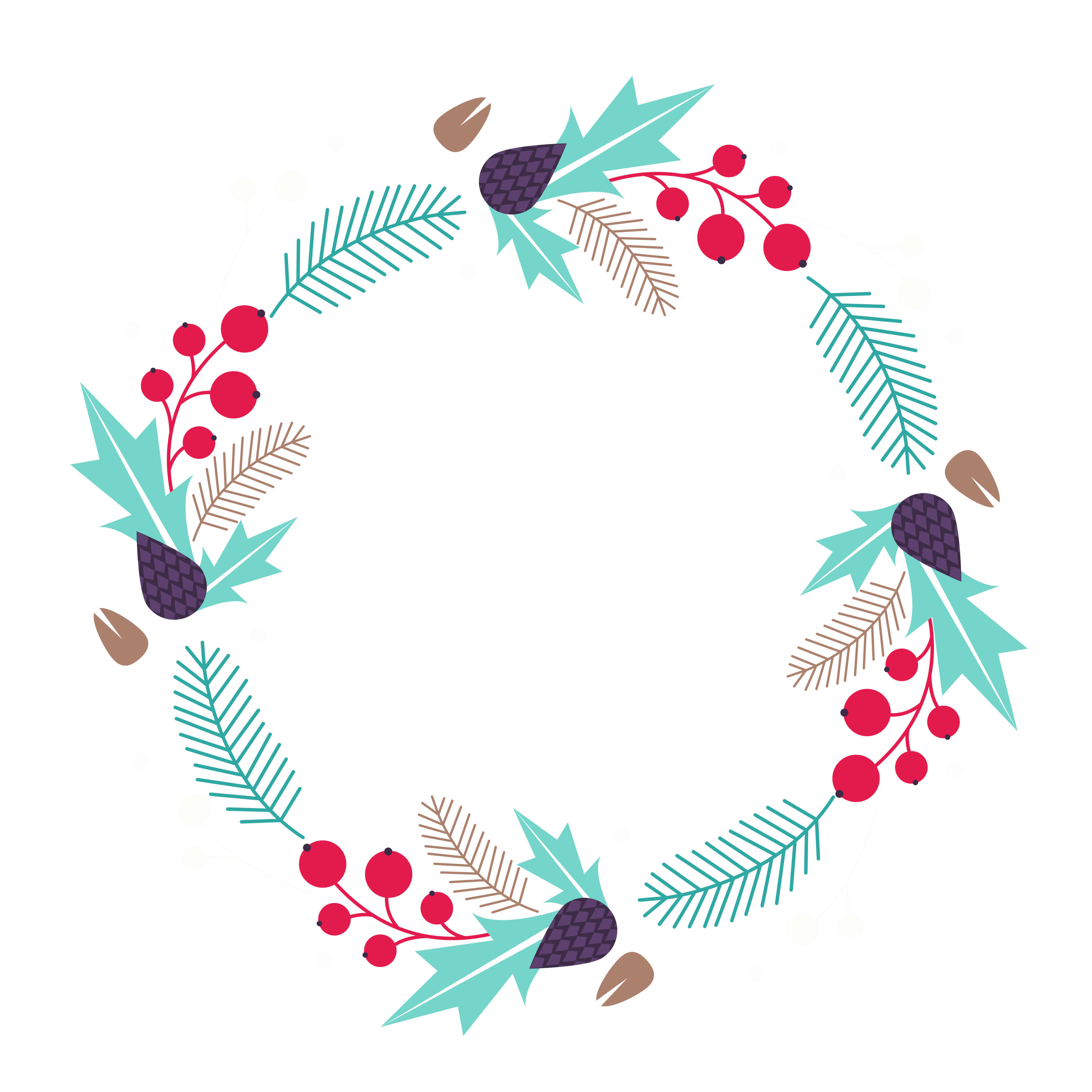 Christmas wreath clipart black and white jpg freeuse stock Free Christmas Wreath Clip Art! - Free Pretty Things For You jpg freeuse stock