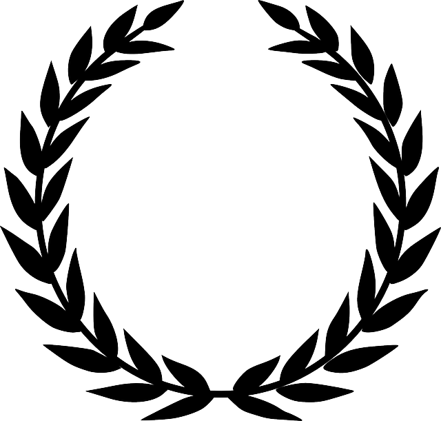 Christmas wreath clipart black and white clip art transparent library Free Image on Pixabay - Laurel Wreath, Accolade, Winner | Pinterest ... clip art transparent library