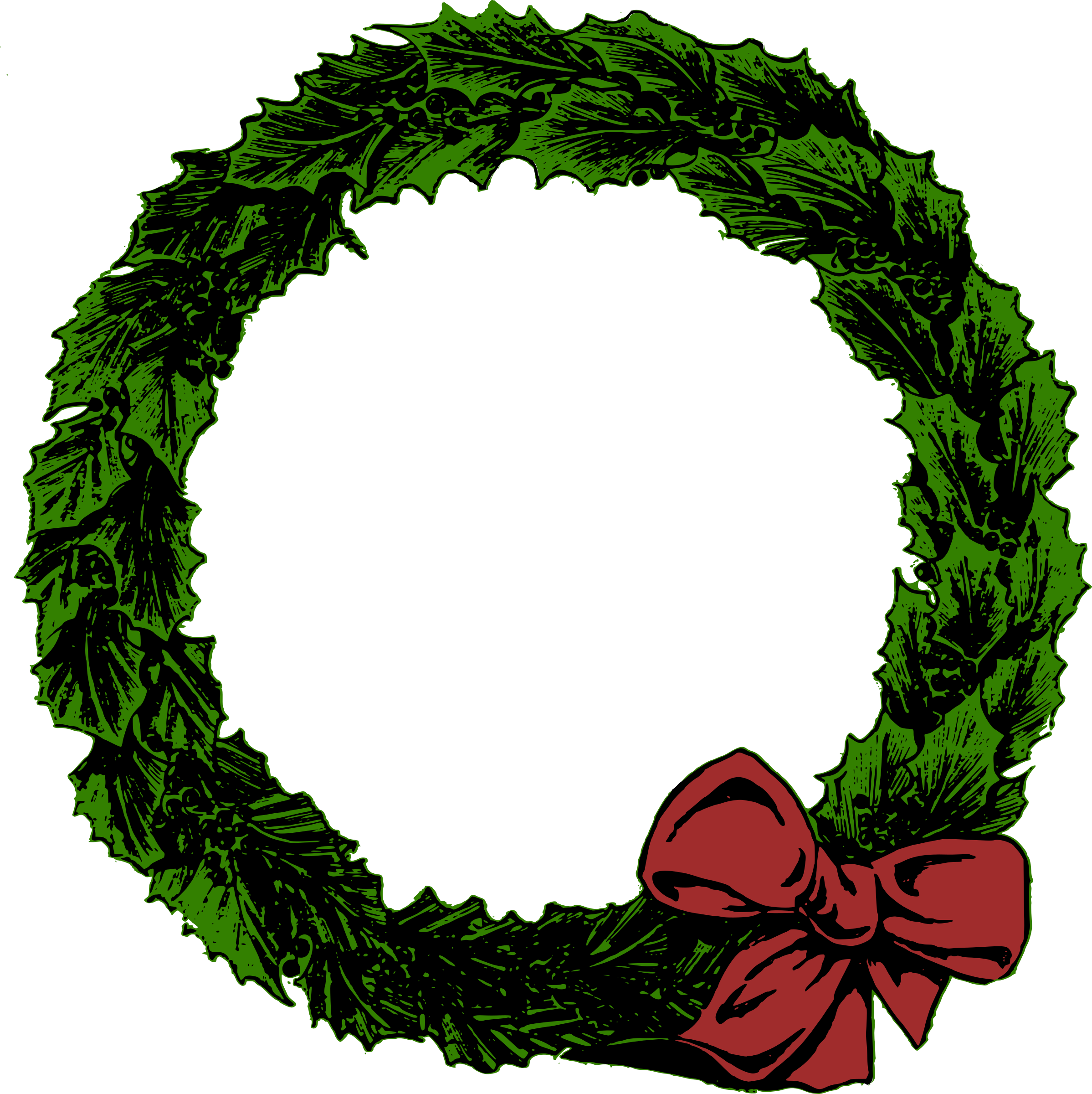 Christmas wreath clipart png picture royalty free Clipart - Xmas Wreath picture royalty free