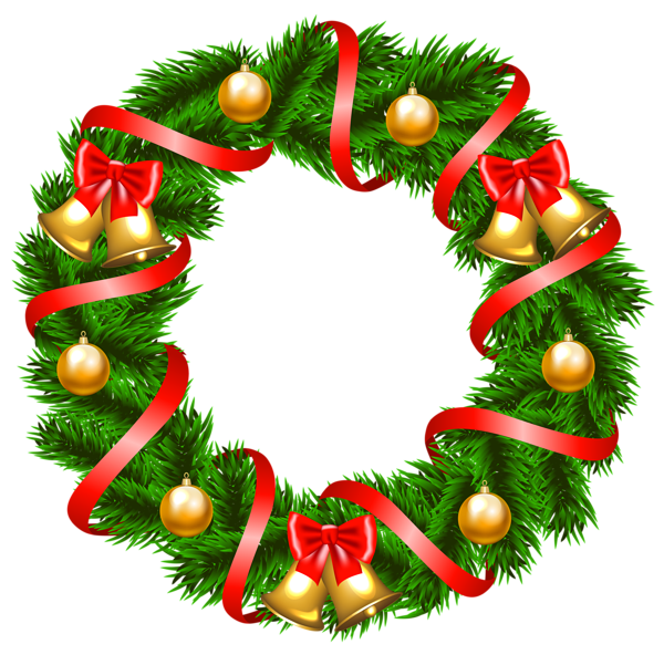 Christmas wreath clipart png svg library library Decorative Christmas Wreath PNG Clipart Image | Клипарты | Pinterest ... svg library library