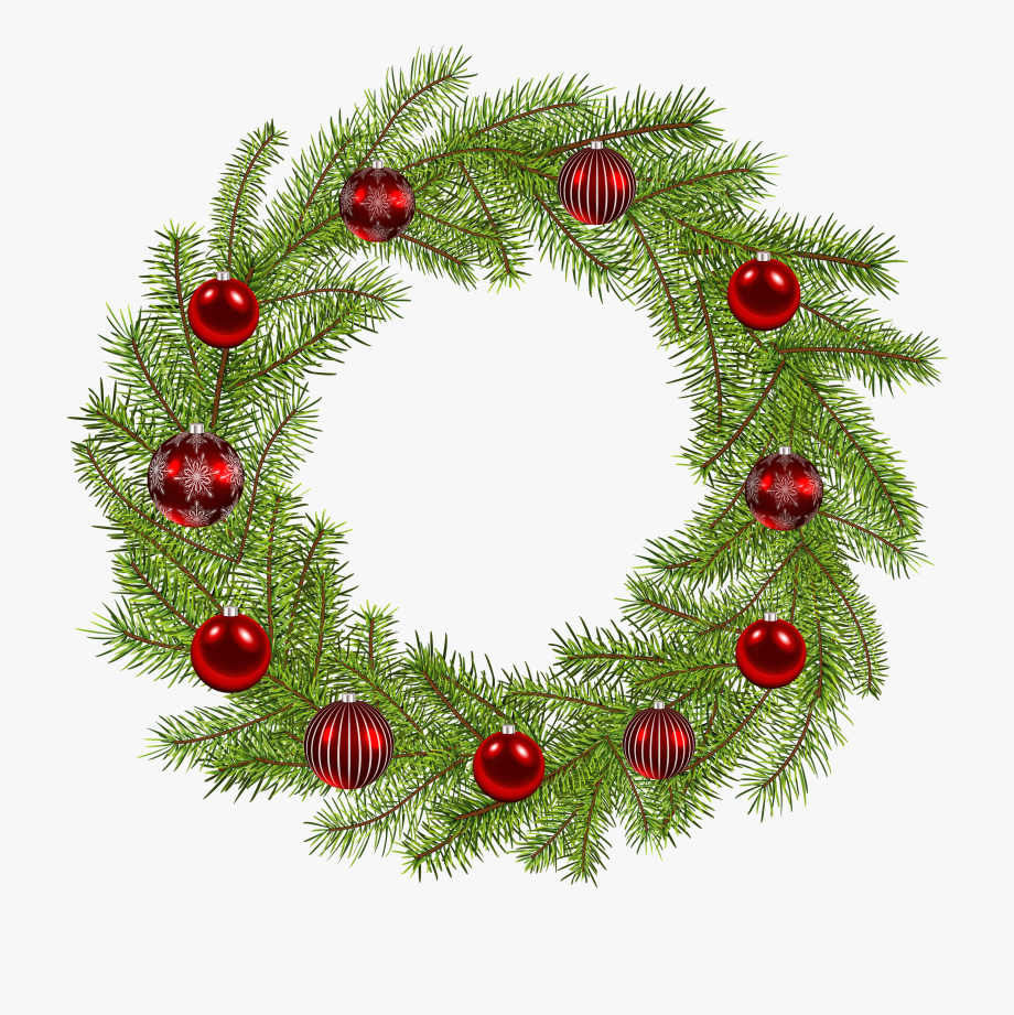 Christmas wreath green clipart picture library Deco Christmas Wreath Png Clip Art Image - Free Transparent Png ... picture library