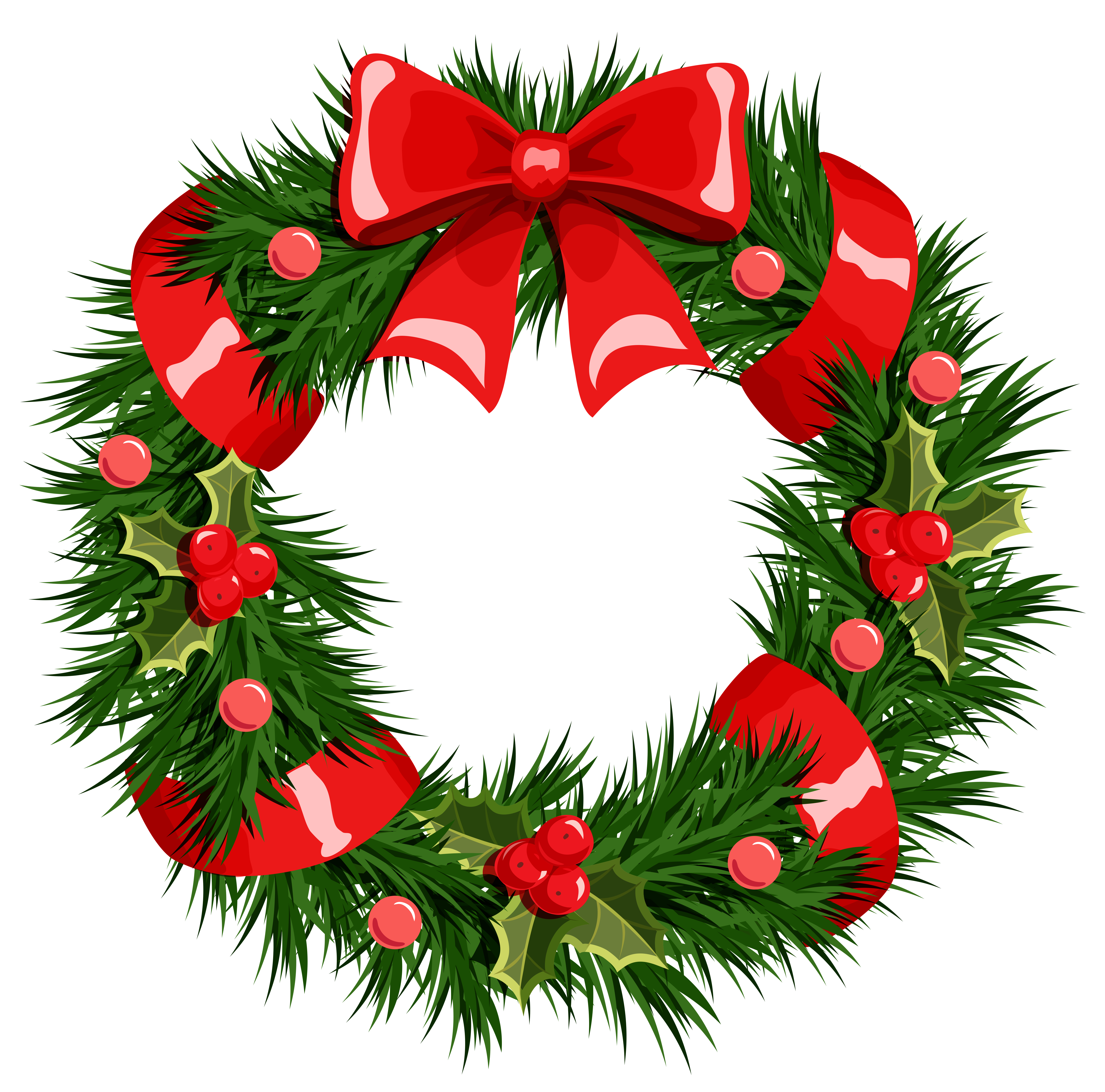Christmas wreath images free clipart clip art library Transparent Christmas Wreath PNG Clipart   Gallery Yopriceville ... clip art library