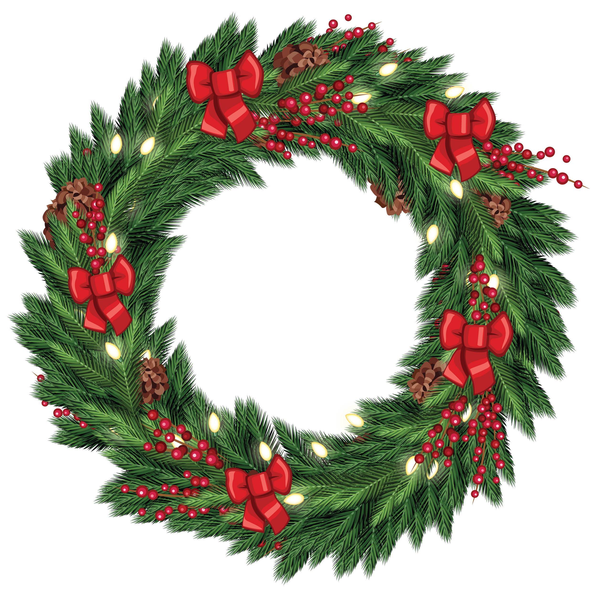 Christmas wreath transparent clipart svg transparent library Christmas wreath png transparent clipart images gallery for free ... svg transparent library