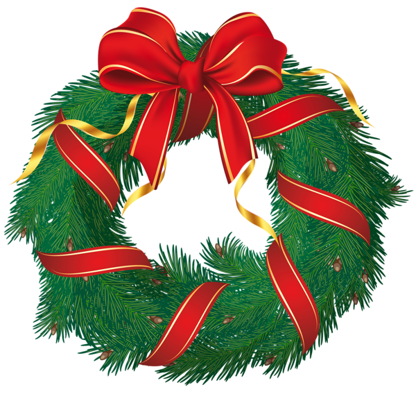 Christmas wreaths clipart image Gallery - Free Clipart Pictures image