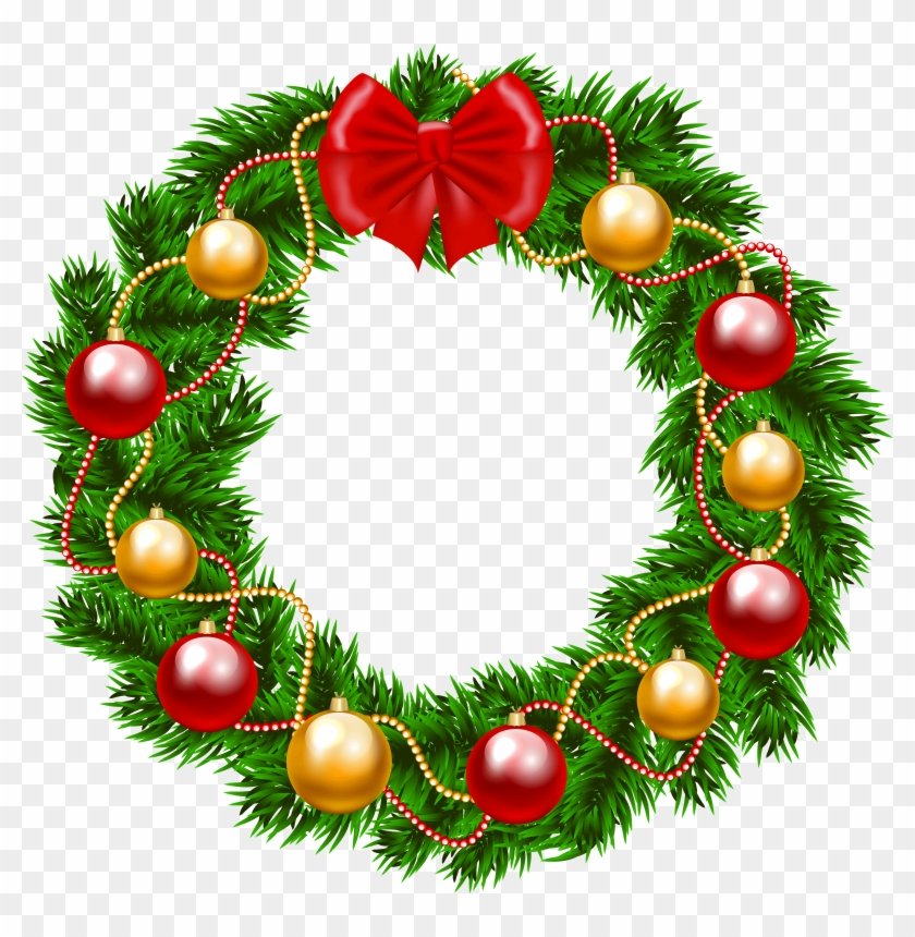 Clipart xmas wreath clip freeuse download Christmas Wreath Png Clipart Image - Christmas Wreath Clipart Free ... clip freeuse download