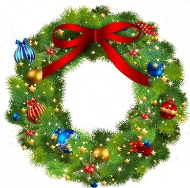 Clipart wreath christmas clip free download Christmas wreath clip art free vector download (220,590 Free vector ... clip free download