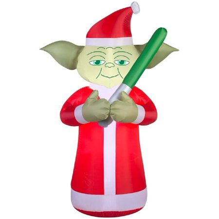 Christmas yoda clipart clipart download 6 Foot Star Wars Lighted Airblown Inflatable Christmas Yoda with Santa Hat  & Lightsaber clipart download