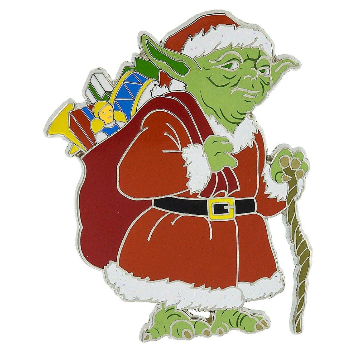 Christmas yoda clipart clipart royalty free download Disney Parks Star Wars Yoda Christmas Holiday Pin New with Card clipart royalty free download
