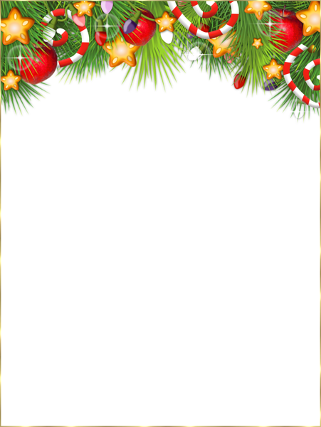 Christmasframe clipart vector freeuse stock Cute Transparent Christmas Photo Frame | CLIPART | Christmas border ... vector freeuse stock
