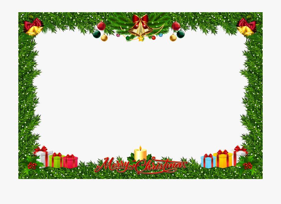 Christmasframe clipart clip black and white stock Christmas Frame Clipart - Png Clipart Christmas Frame Png #203509 ... clip black and white stock