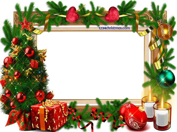 Photoshop clipart templates jpg freeuse stock Christmas Photo Frame Templates for FREE Download | Clipart and ... jpg freeuse stock