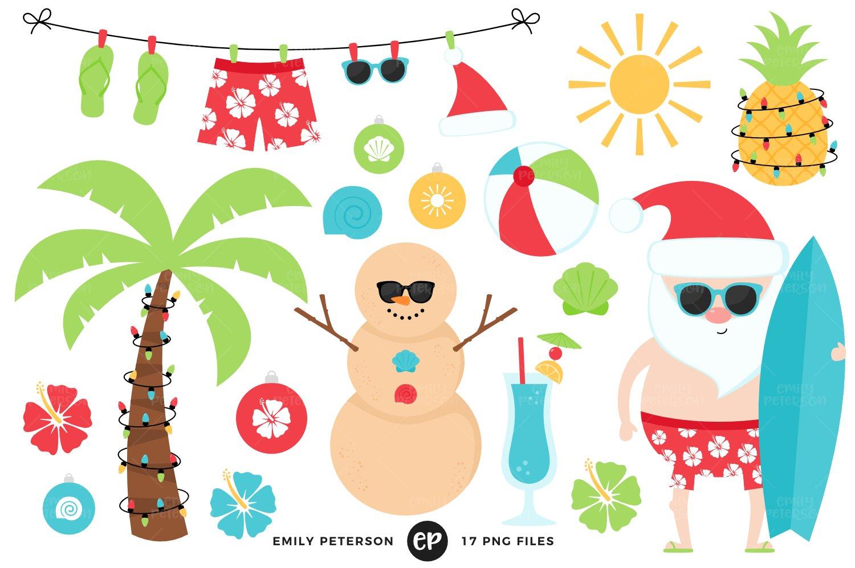 Christmaspineapple clipart jpg Christmas in July Clipart jpg