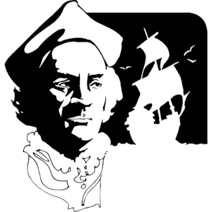 Christopher columbus bust clipart png freeuse library Columbus Bust & Ship clipart, cliparts of Columbus Bust & Ship free ... png freeuse library