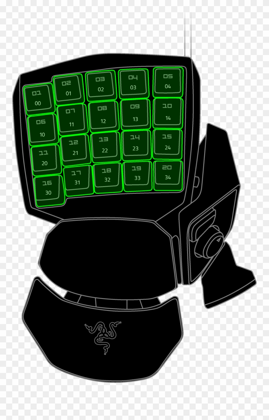 Chroma clipart svg black and white library Keypad Chroma Led Profiles Clipart (#2464882) - PinClipart svg black and white library