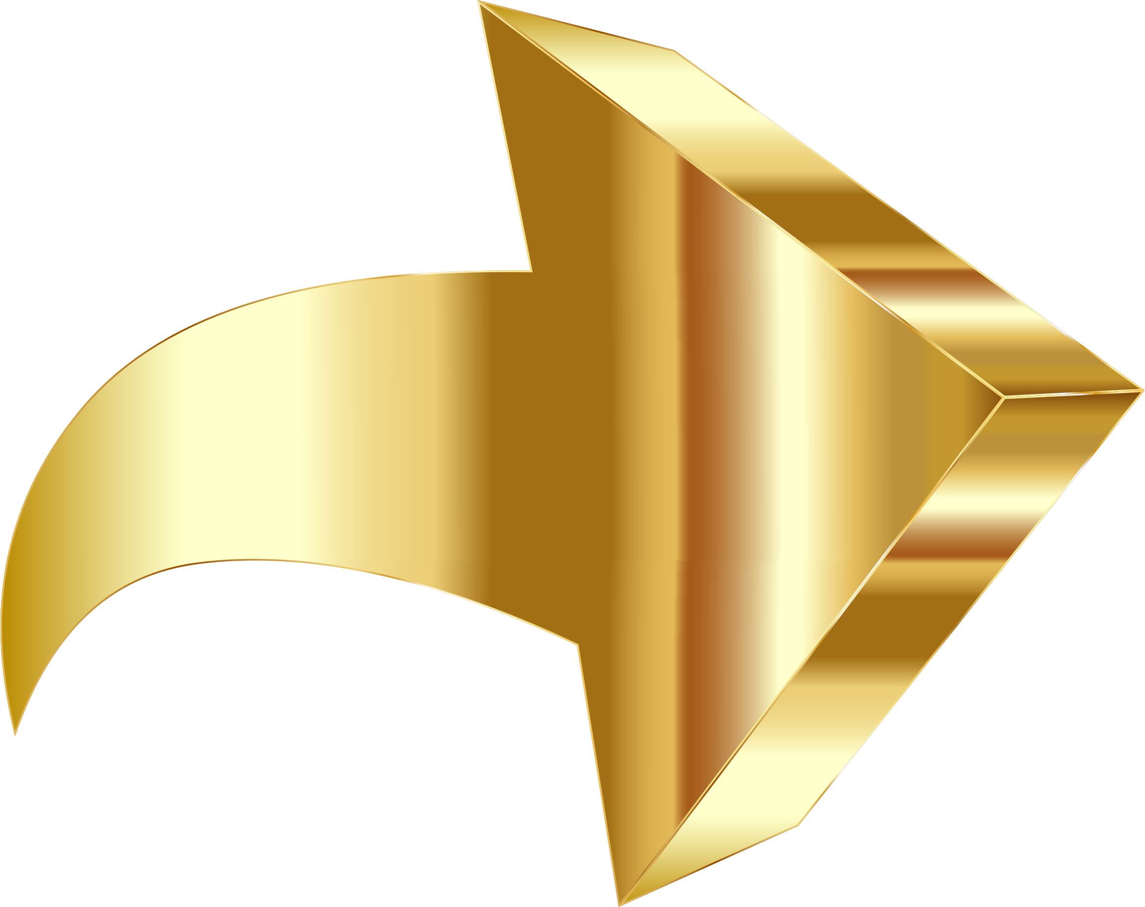 Chrome star clipart png picture library Sparkling Gold 3D Arrow Icons PNG - Free PNG and Icons Downloads picture library