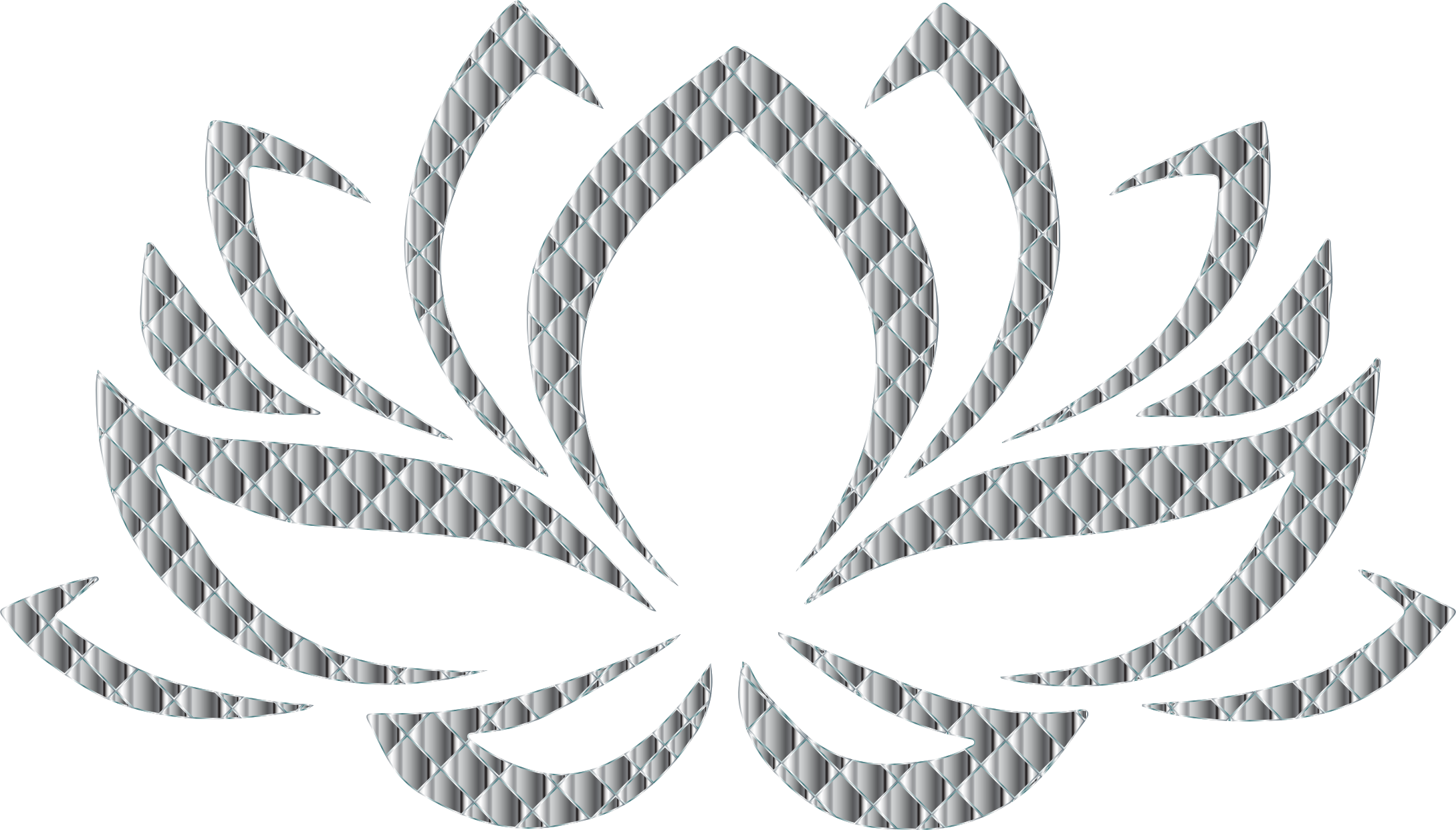 Flower clipart black background. Chrome lotus no icons
