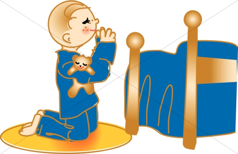 Chrrisitan clipart for pray for kids going back to school graphic royalty free download Child Praying at Bedside | Christian Children Clipart graphic royalty free download