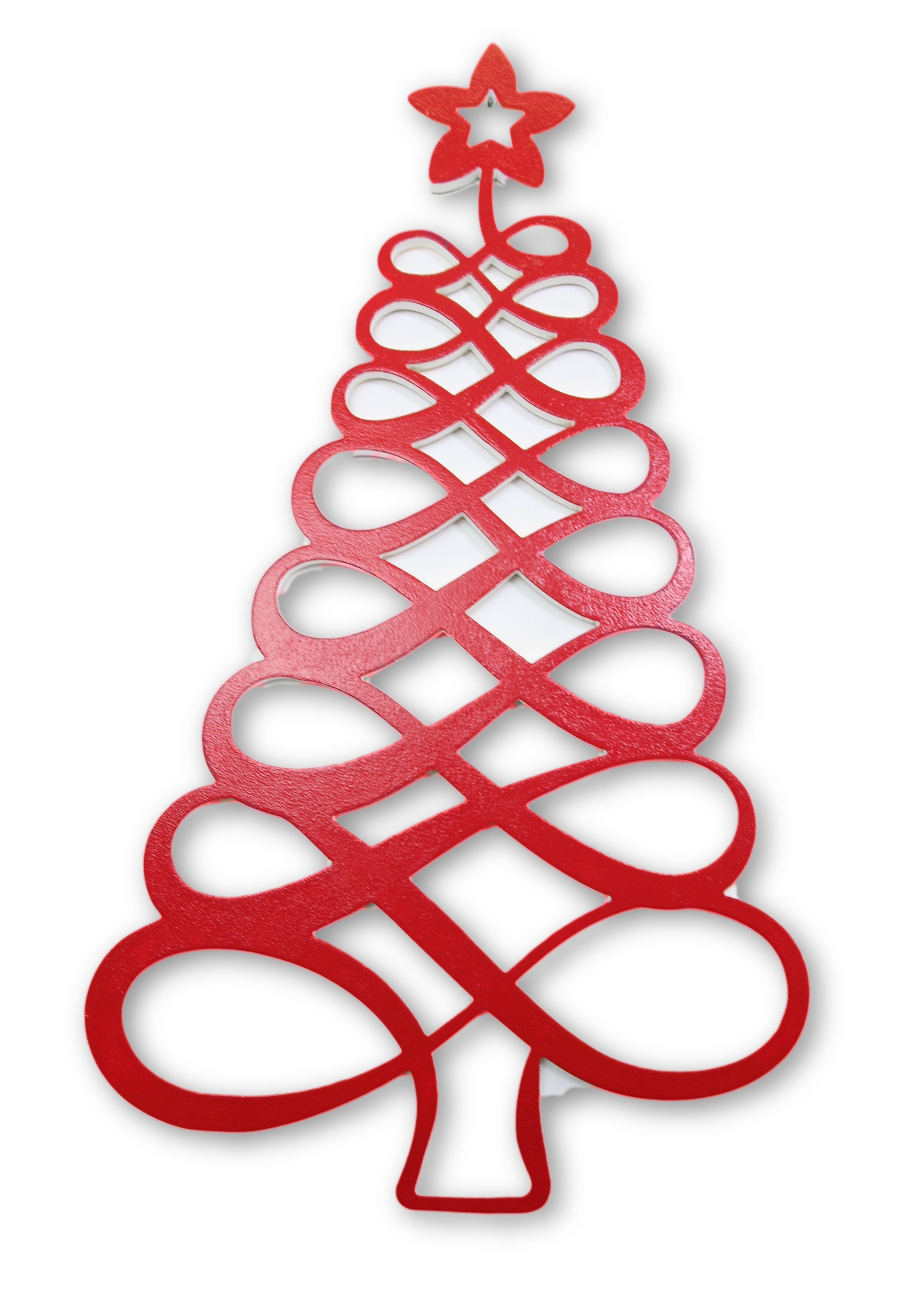 Chrstmas tree base clipart banner transparent library Seasonal Door Hangers ~ Red Swirling Oval Christmas Tree banner transparent library