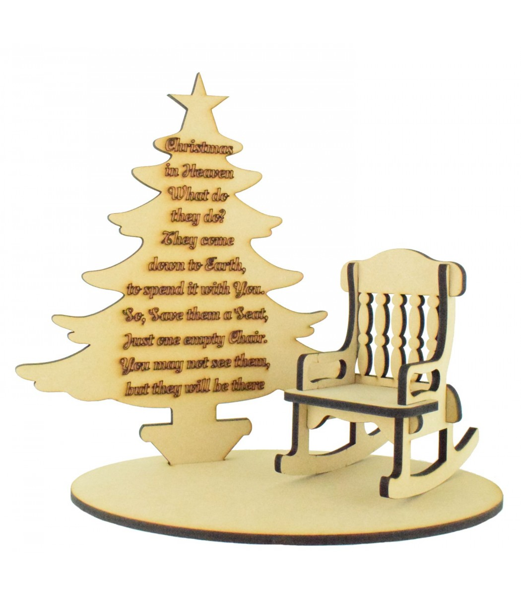 Chrstmas tree base clipart graphic free stock Laser Cut \'Christmas in Heaven\' Quote on a Christmas Tree with Rocking  chair and Base Set graphic free stock