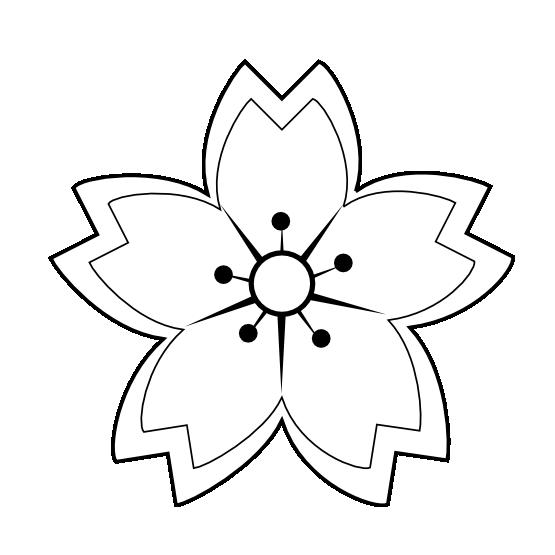 Chrysanthemum book clipart picture freeuse stock black flower png | ... Flower Sakura 1 Black White Line Art Coloring ... picture freeuse stock