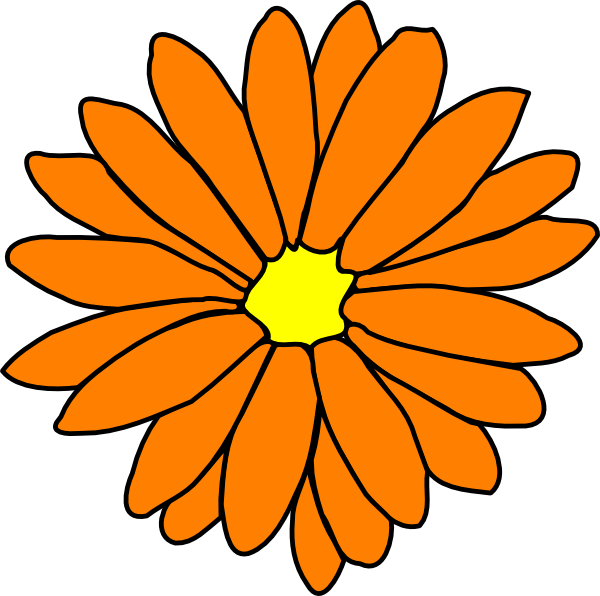 Flower clipart orange png transparent download Orange Flower Clip Art at Clker.com - vector clip art online ... png transparent download