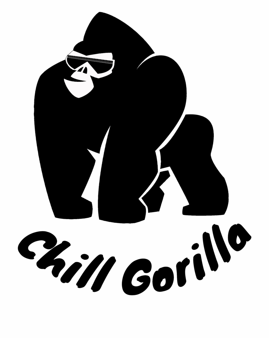 Chubby gorilla clipart picture black and white Hammock Clipart Chilling - Chubby Gorilla Logo Free PNG Images ... picture black and white